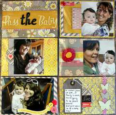 Pass The Baby (layout made of 4x6 cards)
