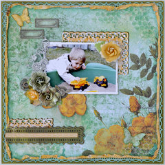 Yellow Trucks -My Creative Scrapbook November Limited Edition Kit