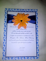 Wedding orange card