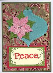Christmas Card Pink Poinsettia