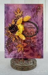 Autumn Mixed Media Birthday Card ~ DT for Leaky Shed Studio
