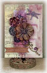 Girlie Grunge Birthday Card ~ DT for Leaky Shed Studio