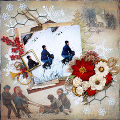 Sledding ~~~ScrapThat! December