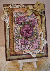 Spring Watercolor Card ~ DT for Helmar