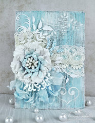 Mixed Media Wedding Card ~ DT for Helmar