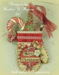 Vintage Christmas Mitten Ornament/ Card Back