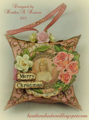 Vintage Inspired Pillow Box Christmas Tag