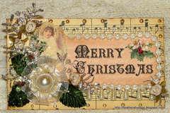 Vintage Shabby Chic Christmas Envelope
