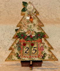 Vintage Chic Count down to Christmas Calendar FRONT