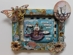 Steampunk Mixed Media Canvas for Gina's Designs