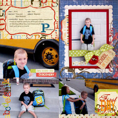 Simple Stories School Album - Pre-School Page by Amber Crowell