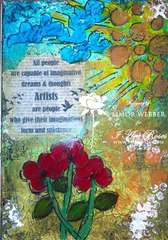 Artist Art Journal Page
