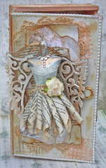 Shabby Chic Altered Cigar Box and Dressform