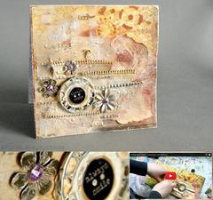 mixedmeedia card tutorial with *Scraps of Darkness*