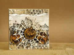 Halloween in wood * card with 3rd Eye stamps