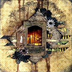 Forest by night **Scraps of Darkness** January Kit