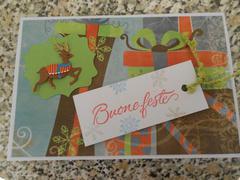 Christmas card: Happy holidays+tag