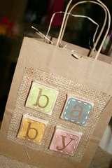 Burlap Baby Gift Bag