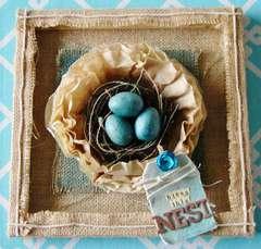 Burlap Framed Nest