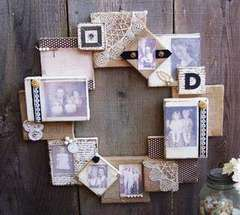 Vintage Canvas & Burlap Frame Wreath