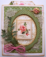 Secret Garden Thank You Pocket Card w/tag #2