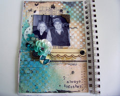 Always Together Art Journal Page