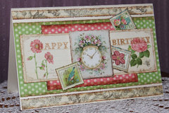 Birthday Card using Graphic 45 Botanical Tea Collection
