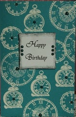 Embossed Birthday Card