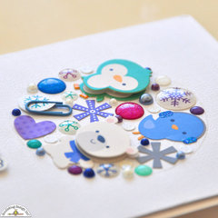 Frosty Friends - Snow Globe Embellishment Cluster