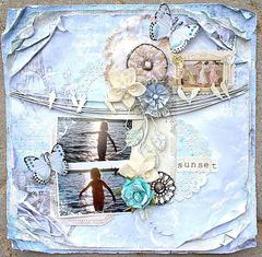 Sunset **Scraps of Elegance November kit**