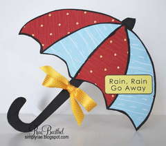 Umbrella Card by DT Diva Rae Barthel