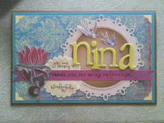 Mother's day card for a Nina (Godmother)