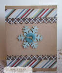 Let It Snow Snowflake Card