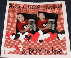 Every dog needs a boy to love
