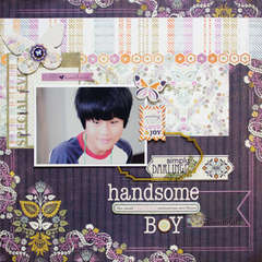 *handsome boy* BasicGrey Plumeria collection