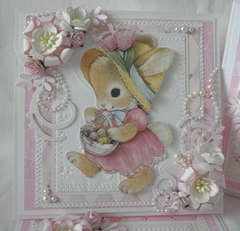 Sweetest 3D Easter Bunny Handmade Card