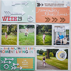 Project Life 2013 - Week 29 - left