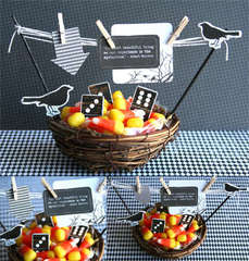 Candy Corn Centerpiece or Candy Tray