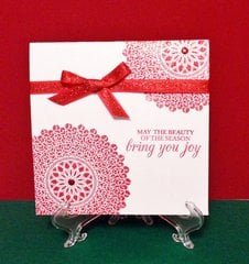 Glitter Medallion Holiday Card