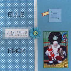 Elle & Erick with Santa