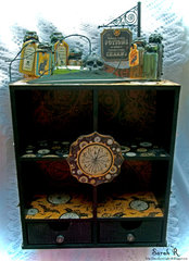 Steampunk Spells Apothecary Cabinet  ~~Scraps of Darkness October