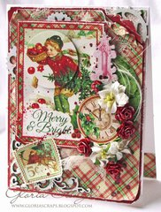 Merry & Bright Christmas Card Featuring Leaky Shed Studio Chipboard