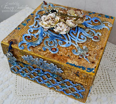 Mixed Media Blessings Box Featuring Leaky Shed Studio Chipboard