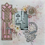 You Are Loved Layout with Stained Glass Window Tutorial