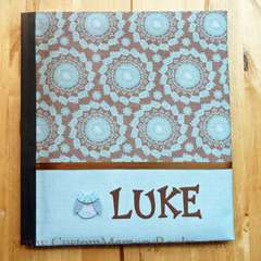 Blue and Brown Owl Baby Book