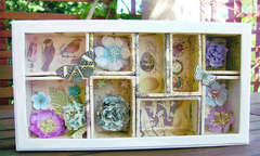 Flowery Shadow Box