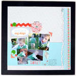 Scrapbook Layout in a Frame by sei