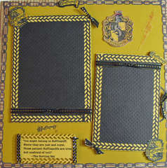 Harry Potter - Hufflepuff Premade Layout