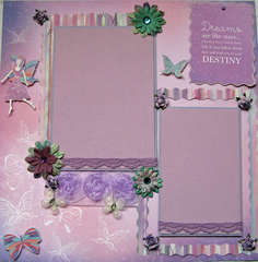 Dreams Premade Scrapbook page