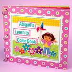 Dora's Learn to Color Book Designed By Elizabeth Barboza